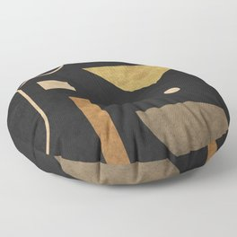 Subtle Opulence - Minimal Geometric Abstract 1 Floor Pillow