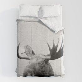 Moose - Black & White Comforters
