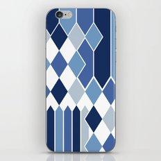 STRIPED DIAMONDS: NAVY iPhone & iPod Skin