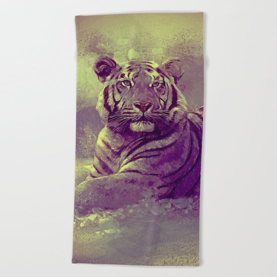 Tiger II Beach Towel