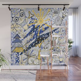 Winter Mod Limited Color Palette Wall Mural