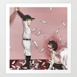 """OFF """"batter and Zacherie, final battle"""" Art Print"""