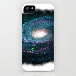 We are here cyan iPhone Case