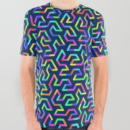 Fractal Abstract 81 All Over Graphic Tee