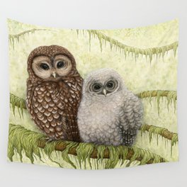 Northern Spotted Owls Wall Tapestry