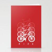 bikes Stationery Cards featuring Bikes by ClicheZero