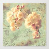 postcard Canvas Prints featuring Postcard by AlejandraClick