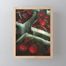 fresh cherries Framed Mini Art Print