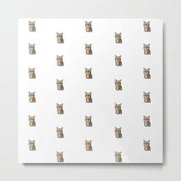 Polka Cat Original Metal Print