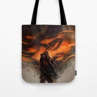 loish Tote Bags featuring Seastorm by loish