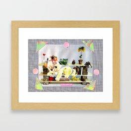 Home Crafts handcut collage Framed Art Print
