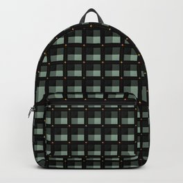 Square pattern..... green tones Backpack