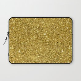 Gold faux glitter background Laptop Sleeve