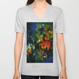 Dark Abstract Painting Unisex V-Neck