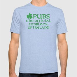 Pubs, the official sunblock of Ireland T-shirt