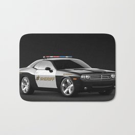 Challenger Sheriff Highway Patrol Police Car Bath Mat