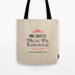 Mrs. Lovett's Meat Pie Emporium (Sweeney Todd) Tote Bag