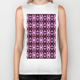 Purple White Flower Pattern Biker Tank