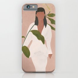 Elegant Lady holding a Flower iPhone Case