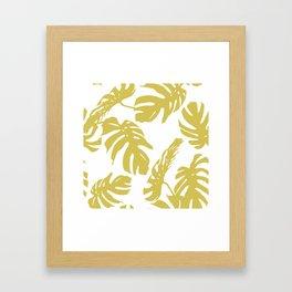 Simply Mod Yellow Palm Leaves Framed Art Print