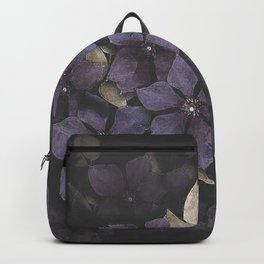 Faded Clematis in Purple Backpack