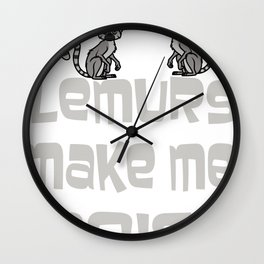 Lemurs Sexy Ring Tailed Animal Lovers Funny Vintage Gift Wall Clock