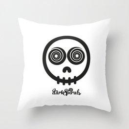 DarkSpirals Collection: Skull Black Throw Pillow