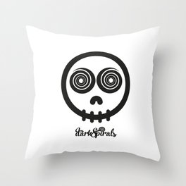 DarkSpirals Collection: Skull Black Throw Pillow