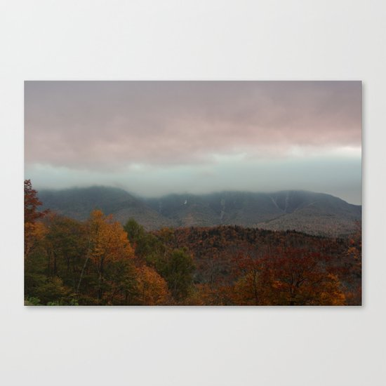 Fog Rolling Over The Hills Canvas Print