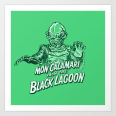 Mon Calamari from the black lagoon Art Print