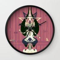 baphomet Wall Clocks featuring Baphomet by Sparganum