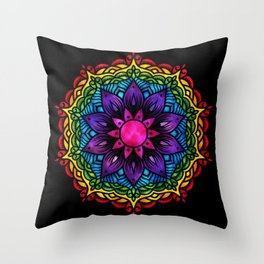 Flower Charka Mandala 43 Throw Pillow