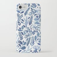iPhone Cases featuring indigo scatter by Samantha Dolan