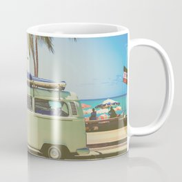 Surf Van Road Trip Beach California Coffee Mug