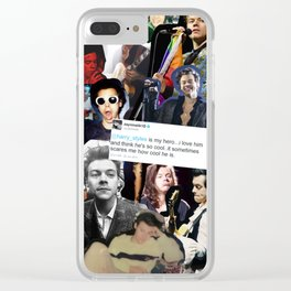 harry styles is my hero... Clear iPhone Case