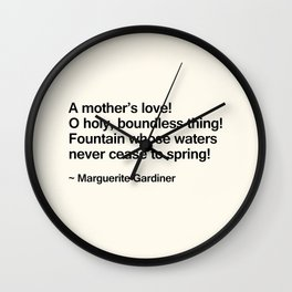 Mothers Day VI Wall Clock