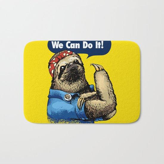 We Can Do It Sloth Bath Mat