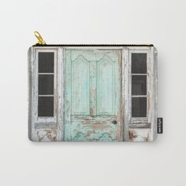 Barn Door Vintage Turquoise Carry-All Pouch