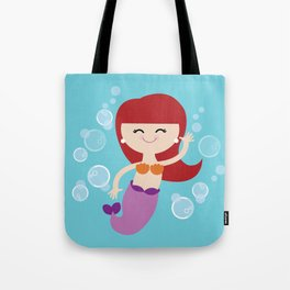 Little Redhead Mermaid Tote Bag