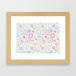 Hearts & Flowers Framed Art Print
