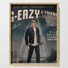 g eazy bay to universe 2019 dedekyo Serving Tray
