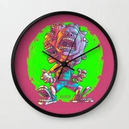 Not Enough Mouths To Scream It Out Wall Clock