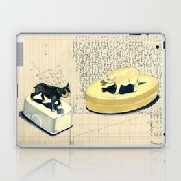 Vintage Pig and Dog Celluloid Boxes in Gouache Laptop & iPad Skin