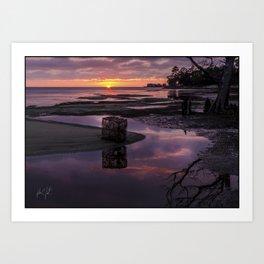Colington Crabpot Sunset Art Print