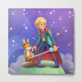 Le Petit Prince Metal Print