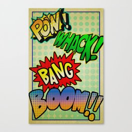 Comic Sounds Canvas Print