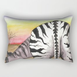 Zebra Moon Rectangular Pillow