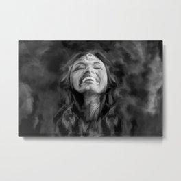 Dancer in Darkness  (b&w digital painting) Metal Print