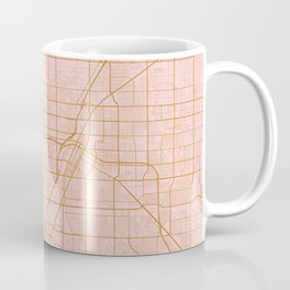 Pink and gold Las Vegas map Coffee Mug
