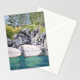 Lake Tahoe Shore View Stationery Cards